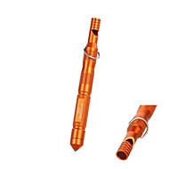 ホイッスル付きの屋外耐水性マグネシウム棒フリントストーン火災スターター&アルコール綿 - (オレンジ&黒)