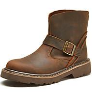 baratos Sapatos Masculinos-Unisexo Fashion Boots Seda / Pele Napa Outono / Inverno Botas Botas Curtas / Ankle Café