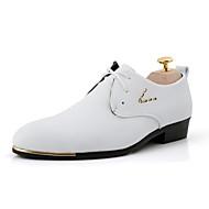 Bărbați Pantofi Imitație de Piele Primăvară Vară Toamnă Iarnă Confortabili Pantofi formale Oxfords Ținte Dantelă Vârf Metalic Pentru