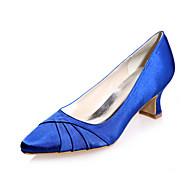 Mulheres Sapatos Cetim Primavera / Verão Salto Robusto Rosa claro / Champanhe / Ivory / Casamento / Festas & Noite