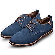 cheap Shoes & Bags-Men's Leather Shoes Suede Spring / Fall Oxfords Slip Resistant Black / Brown / Blue / Party & Evening / Lace-up / Party & Evening / Suede Shoes / Novelty Shoes