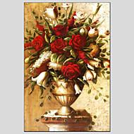 billiga Blom-/växtmålningar-Hang målad oljemålning HANDMÅLAD - Stilleben Europeisk Stil Moderna Duk