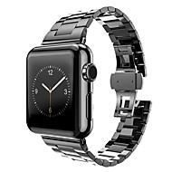 billiga Smart klocka Tillbehör-Klockarmband för Apple Watch Series 3 / 2 / 1 Apple fjäril spänne Metall Handledsrem