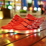 Para Meninos-Tênis-Inovador Light Up Shoes-Rasteiro-Preto Azul Rosa Vermelho Branco-Couro-Casual