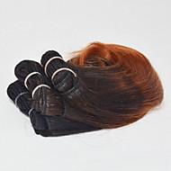 Cabelo Humano Cabelo Indiano Extensões de cabelo Black / Dark Auburn