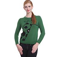 ženski povremeni / rad dugih rukava pulover, pletenina srednje