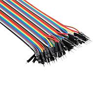 """כבלים למוצרי אלקטרוניקה DIY - עשה זאת בעצמך 22 ס""""מ זכר לזכר"""