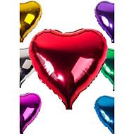 "18 ""10st / set gemengde willekeurige kleuren ballon aluminiumplaat film liefde / hartvormige ballonnen bruiloft decoratie ballon"