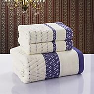 Frisse stijl Badlaken Set,Jacquard Superieure kwaliteit 100% Katoen Jacquard Geweven Handdoek
