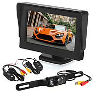 cheap Car Rear View Camera-Car reversing monitoring4.3 inch display/ LED license camera/wireless transmitter and receiver