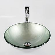 Modern 1.2*42*14.5 Rond sink Materiaal is Gehard Glas Badkamer Wastafel Badkamer Kraan Badkamer Montagering Badkamer Waterafvoer