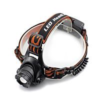 Black headlamp ヘッドランプ ヘッドライト LED 2000 lm 4.0 モード Cree XM-L T6 チャージャー付き ズーム可能 防水 アングルライトのヘッド部 スーパーライト キャンプ/ハイキング/ケイビング 日常使用 ダイビング/ボーティング