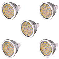 billige -7W GU5.3(MR16) LED-spotpærer MR16 48 leds SMD 2835 Dekorativ Varm hvit Kjølig hvit 750-800lm 2800-3200/6000-6500K AC 85-265 AC 12V