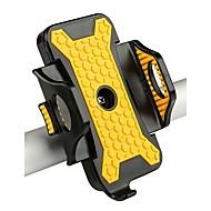 billige Sykkeltilbehør-Telefonstativ til sykkel GPS, Justerbare, Universell Fritidssykling / Sykling / Sykkel / Dame Rustfritt Stål / ABS / Syntetisk Gul - 1pcs
