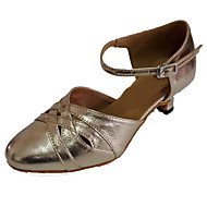 cheap -Women's Modern Shoes Leather Sandal Indoor / Performance / Practice Customized Heel Customizable Dance Shoes Gold / Professional