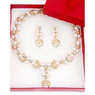 女性用 女性 ジュエリーセット 人造真珠 ファッション 結婚式 パーティー 誕生日 婚約 日常 真珠 合金 イヤリング・ピアス ネックレス