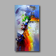 cheap Oil Paintings-Hand-Painted Abstract Vertical, Modern Canvas Oil Painting Home Decoration One Panel