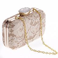 Χαμηλού Κόστους L.WEST®-Γυναικεία Τσάντες Πολυεστέρας Βραδινή τσάντα Κουμπί Λευκό / Μαύρο / Ανοικτό Καφέ