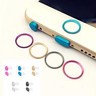 metal hjem knap dække ring protektor cirkel + hovedtelefon jack&opladning port anti-støv stik sæt til iPhone 6 / 6s&6 / 6s plus