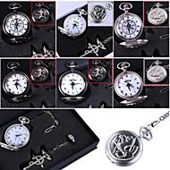 Relógio Inspirado por Fullmetal Alchemist Edward Elric Anime Acessórios de Cosplay Colares / Relógio / Anel Preto / Prateado Liga