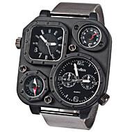 男性用 軍用腕時計 リストウォッチ クォーツ 日本産クォーツ スポーツウォッチ 合金 バンド ブラック