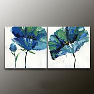 El-Boyalı Çiçek/BotanikModern Çift Panelli Kanvas Hang-Boyalı Yağlıboya Resim For Ev dekorasyonu