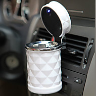 luxe auto-accessoires draagbare geleid auto asbak hoge kwaliteit universele sigaret cilinder houder auto styling mini