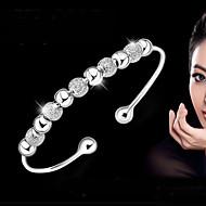 Kadın's Kol Düğmesi Bilezikler Bileklik Som Gümüş Bayan Temel Moda Bilezikler Mücevher Gümüş Uyumluluk Düğün Parti Günlük Maskeli Balo Nişan Partisi Balo