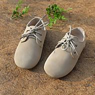 baratos Sapatos de Menino-Para Meninos / Para Meninas Sapatos Couro / Courino Primavera / Outono Conforto Tênis Cadarço para Branco / Marrom / Verde / Casamento / Festas & Noite