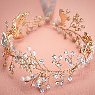成人用 真珠 ラインストーン 合金 かぶと-結婚式 パーティー ヘッドバンド 1個