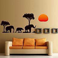 preiswerte -Tiere / Botanisch / Cartoon Design / Romantik / Mode / Feiertage / Landschaft / Formen / Fantasie Wand-Sticker Flugzeug-Wand Sticker , PVC