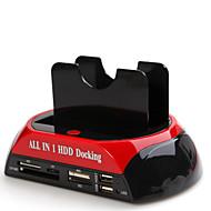 alle i en USB2.0 til 2,5 / 3,5 dual SATA-harddisk dockingstation gl02