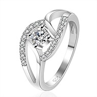 xu feminino 925 prata banhado diamantes anel estilo feminino clássico