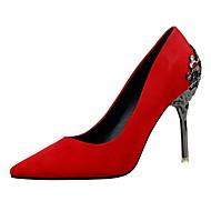 Žene Cipele Baršun Proljeće Ljeto Udobne cipele Obične salonke Cipele na petu Stiletto potpetica Krakova Toe Zatvorena Toe za Zabava i