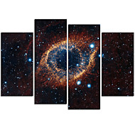 cheap Prints-VISUAL STAR®4 Panel Galaxy Canvas Print Stretched and Framed Canvas Art Ready to Hang