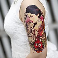 grote arm bloemen nep-overdracht tijdelijke tattoos lichaam sexy stickers waterdicht