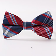 cheap Men's Accessories-Men's Polyester Bow Tie, Party/Evening Formal Style Grid Office/Business Stripes
