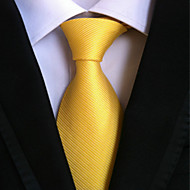 cheap Men's Accessories-New Bright yellow Classic Formal Men's Tie Necktie Wedding Party Gift TIE0142