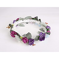 cheap Headpieces-Lace Fabric Plastic Wreaths Headpiece