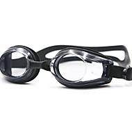 משקפי שחייה נגד ערפל עמיד למים סיליקה ג'ל PC שחור כחול לבן שחור כחול אדום
