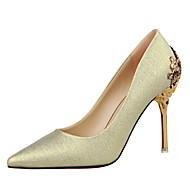 Χαμηλού Κόστους Γόβες ροζ χρυσό-Γυναικεία Παπούτσια Δερματίνη Προσαρμοσμένα Υλικά Άνοιξη Καλοκαίρι Φθινόπωρο Βασική Γόβα Πρωτότυπο Ανατομικό Τακούνι Στιλέτο για Γάμου