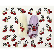 10 pcs 3D Negle Stickers Vandoverførings klistermærke Negle kunst Manicure Pedicure Moderigtigt Design / Smuk Frugt / Tegneserie