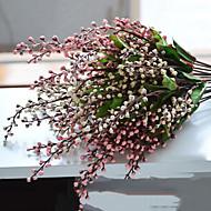 1pc / ev dekorasyon çiçek kiti için belirlenen meyve çiçek ipek yapay çiçekler (rastgele renk)