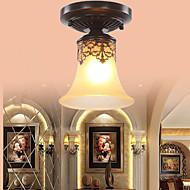 billige Taklamper-COSMOSLIGHT Takplafond Omgivelseslys - LED, Tiffany Rustikk / Hytte Vintage Lanterne Land Traditionel / Klassisk Retro Rød Moderne /