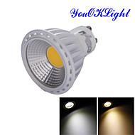 billige Spotlys med LED-GU10 LED-spotpærer R63 1 leds COB Dekorativ Varm hvit Kjølig hvit 600lm 3000/6000K AC 85-265 AC 220-240 AC 110-130V