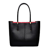 Women Bags All Seasons Cowhide Shoulder Bag Tote for Casual Black Red Blue