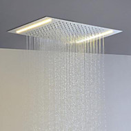 Stainless Steel 304 110V~220V Alternating Current Bathroom Rainfall Shower Head With Energy Saving LED Lamps