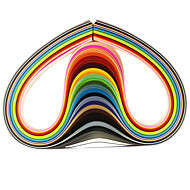 120pcs 5mmx53cm quilling χαρτί (τεμ x5 24 χρώμα / χρώμα) diy σκάφος τέχνη διακόσμησης