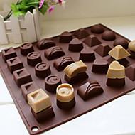 halpa Jäätelövälineet-30 onkalo silikoni sydän pyöreä suklaa muotin jääpalakennosmuotti