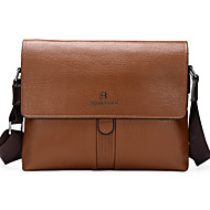 Men Bags PU Shoulder Bag Satchel for Shopping Casual Formal Office & Career All Seasons Black Brown Khaki